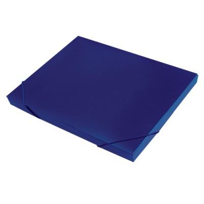 Папка короб архивная на резинке А4, пластик, торец 15 мм, синяя