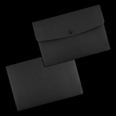 Папка-конверт с кнопкой из экокожи