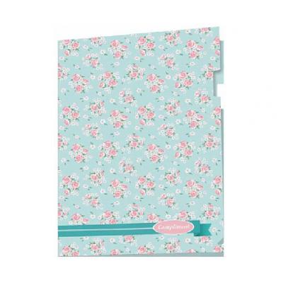 Пластиковая папка-уголок А4 цветочный дизайн, 180 мкм