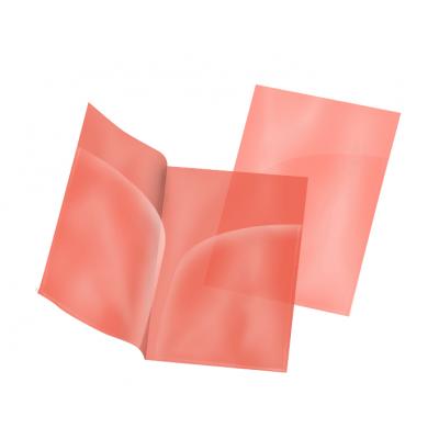 Пластиковая папка-уголок А4 красная, два кармана, 180 мк