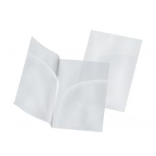 Папка-уголок А4, прозрачная, два кармана, пластик 180 мкм