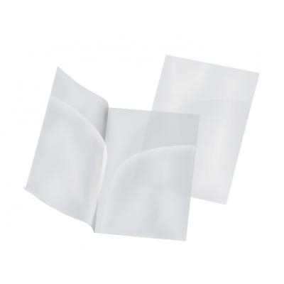Пластиковая папка-уголок А4 прозрачная, два кармана, 180 мк