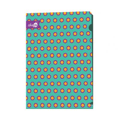 Пластиковая папка-уголок А4 дизайн Горошек Lifestyles, 180 мк