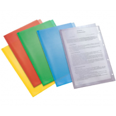 Папка-уголок А4, синяя, с перфорацией, пластик 180 мкм
