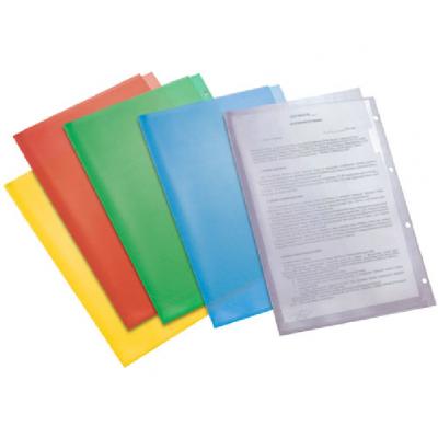 Пластиковая папка-уголок А4 перфорация, жёлтая, 180 мк
