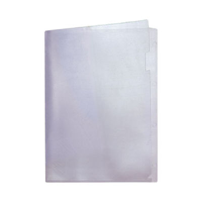 Пластиковая папка-уголок А4 прозрачная, без карманов, 180 мк