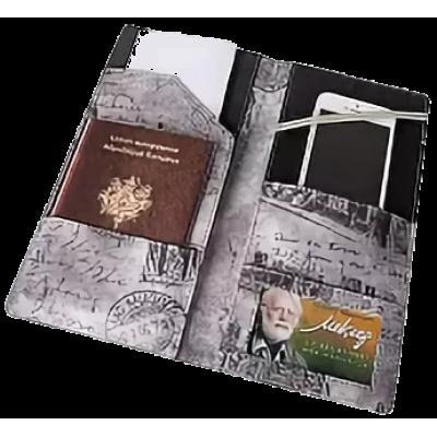 Тревел-обложка 120х240, для путешествий, кожзам, зеленая