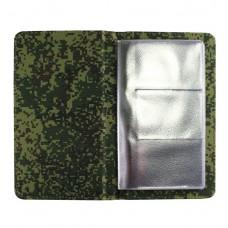Визитница настольная Military, на 120 карт, камуфляжная ткань
